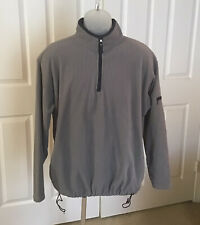 Faded Glory Men's Gray W/ Navy Blue Trim Pullover Long Sleeve Sz Small