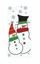 Cellophane Snowman Buddies Christmas Party Bags Pack of 20