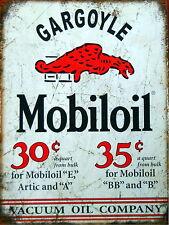 Gargole Mobiloil Garrage / pub / bar Sign , Retro metal Aluminium Sign vintage