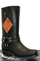 Grinders Renegade Hi Black Unisex Leather Boot Cowboy Western Bikers High Boots