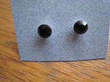 1 pr JET Black Swarovski elements Austrian Crystal stud earrings 5mm