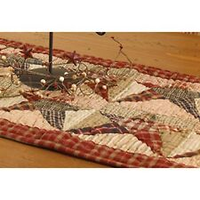 Primitive Country Rustic Rebbecca's Patchwork Star Farmhouse Quilt Table Runner