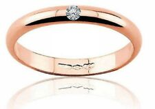 Diana fede fedina matrimonio oro Rosa 18 kt. grammi 3 diamante 0.03 matrimonio