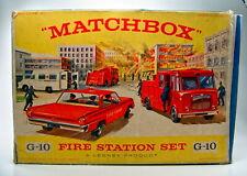 "Matchbox G-10 ""Fire Station Set"" Gift-Set 1964"