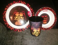 star wars 3 piece scary halloween dinner set