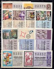 España Loteria Nacional ilustraciones Filatelicas año 1975 (CC-285)