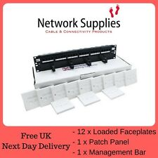 Cat5E UTP 19'' Data network LAN Contractor Pack Patch panel Module