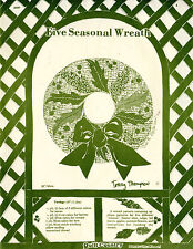 """UNCUT Quilt Country Sewing Craft Pattern 300 """"Five Seasonal Wreath"""" 20"""""""