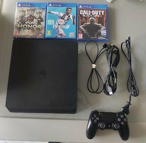 PS4 Slim con 3 GIOCHI e 1 Controller - PERFETTAMENTE FUNZIONANTE