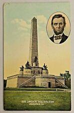 Lincoln Mausoleum Springfield, ILL DB Postcard Abe Lincoln Inset Picture 2990