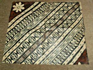 HAND CRAFTED DECORATED SANTA CRUZ ISLANDS TAPA CLOTH 51 X 41 CM