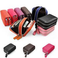 Women Portable Soft Leather Purse Coin Change Card Holder Bag Zipper Wallet Gift
