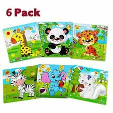 Wooden Jigsaw Puzzles for Toddlers Kids Animals Puzzles Set (6 Pack)