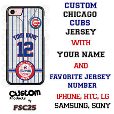 Chicago Cubs Personalize Stripes Baseball Jersey Phone Case Cover for iPhone ..