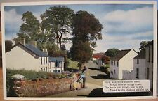 Ireland Vintage Postcard IRISH VILLAGE Street Hours Shadows and Sun ETW Dennis