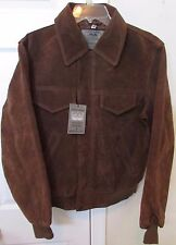 Genuine Garment Brown Leather Jacket Adult Small New Made in Italy
