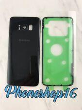 Original Samsung Galaxy S8 SM-G950F Akkudeckel Deckel Backcover Schwarz + Kleber
