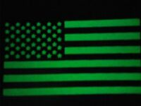 2 Glow in the dark USA Flag patch - Sew On patches - Brand new