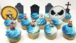 Disney Nightmare Before Christmas Cupcake Topper Set      ***Brand New***