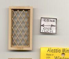 Half Scale - Tudor Diamond Window 2114HS wood dollhouse miniature 1/24 scale USA