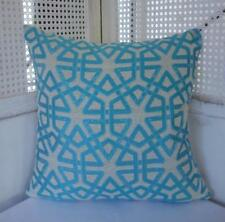 Beautiful Teal & Ivory Jacquard Cushion Cover 45cm