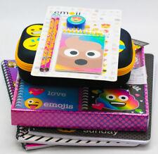 Emoji Combo Stationery Pack 3 Notebooks 5 Piece Stationery Set Pencil Case
