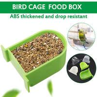 Bird Cage Food Box Trough Bird Feeder Bowl Accessories Bird Supplies  a1 5@%