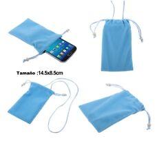 Para Nokia n8 azul, estuche, protección bolsa de tela pañuelo cadena Bucle-dispositivo de cierre