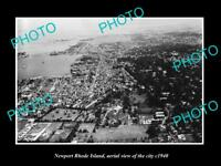OLD LARGE HISTORIC PHOTO OF NEWPORT RHODE ISLAND AERIAL VIEW OF THE CITY 1940 1
