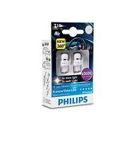 COPPIA Lampada Lampadina Luce PHILIPS X-TREME VISION LED T10 (W5W) 2.1x9.5d 12V