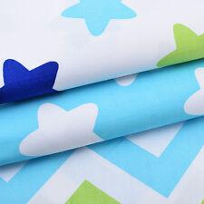 3PCS Cotton Star Fabrics Patchwork Textile Couture pour Vêtements de Poupée