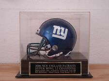 Football Mini Helmet Case With A New England Patriots Super Bowl 51 Nameplate
