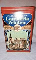 Lambertz Printen Vintage Cookie Tin Made in West Germany
