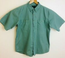 """Scandia Woods green heavy cotton shirt size Large pit to pit 24"""""""