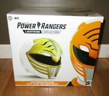 FULL SIZE Helmet Mighty Morphin Power Rangers Lightning White Ranger  WEARABLE!