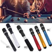 Pool Cue Extension Push on Telescopic Snooker Billiard Long Stick Accessories JE