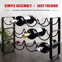 3 Tier Stackable Wine Rack, Countertop Cabinet Wine Holder Storage 12 Bottles US