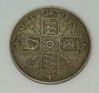 **Silver George V 1914 One Florin Coin (better grade)***