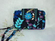 Vera Bradley Smartphone Wristlet in Midnight Blues Cotton Multi-Color BIN $44
