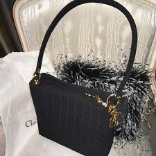 Vintage CHRISTIAN DIOR Black Quilted Cannage Tote Shoulder Bag