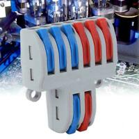 2 in 6 out Reusable Electrical Connectors Wire Block Clamp Terminal Cable