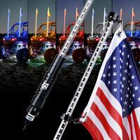 Xprite 5FT LED Whip Light Quick Release Antenna Chase Pole U.S. Flag for ATV UTV