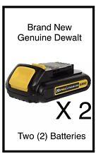 Two (2) New Genuine DeWalt Dcb201 20V Max Lith-Ion 1.5Ah Batteries 2019
