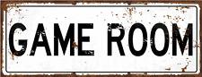 Game Room Metal  Street Sign, Pool, Darts, Poker, Gaming, Billiards, Mancave