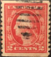 Scott #453 US 1914 2c Washington Postage Stamp XF