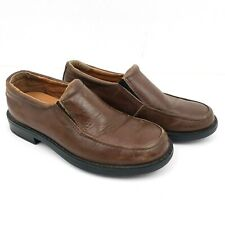 Cole Haan Air Boys Size 1.5 Ace Slip On Brown Leather Loafers Shoes