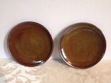 "2 Otagiri - Japan Brown Speckled Stoneware 7 3/4"" Bread & Butter Plates"