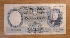 Argentina banconota da 500 pesos moneda nacional circolata