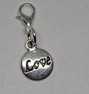 "1pc or 20pc ""Love"" Charm/ Zipper Pull/ Pendant; Tibetan Silver; Inspiration"