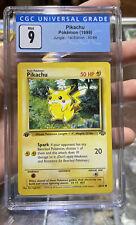 Pikachu 1st Edition Jungle Mint 9 CGC Pokemon #60